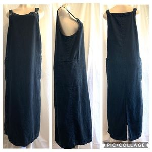 Eileen Fisher denim jumper dress Size medium
